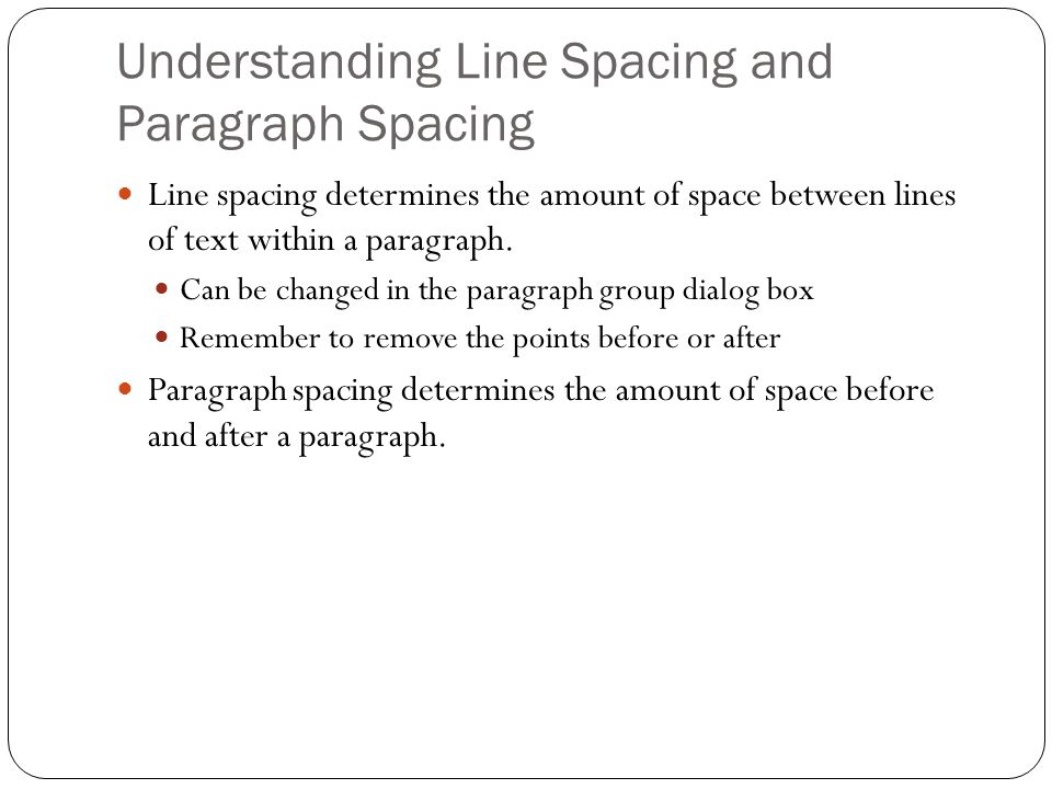 Understanding Line Spacing and Paragraph Spacing
