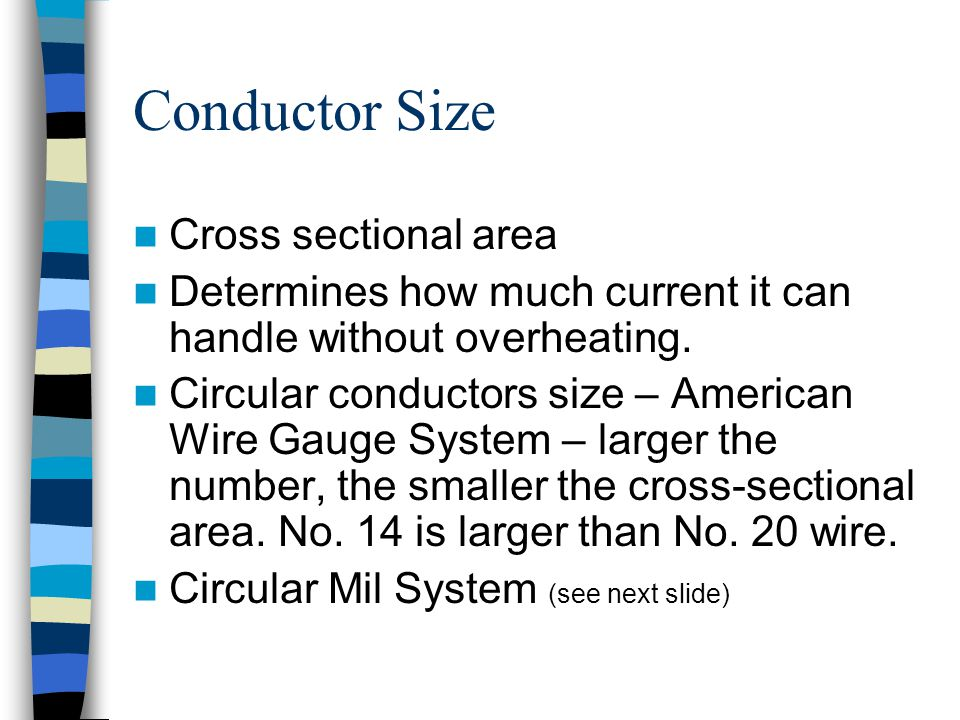 Introduction to basic electrical circuit materials ppt download conductor size cross sectional area greentooth Image collections