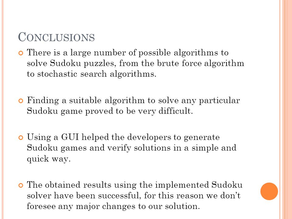 SOLVING SUDOKU WITH MATLAB - ppt video online download