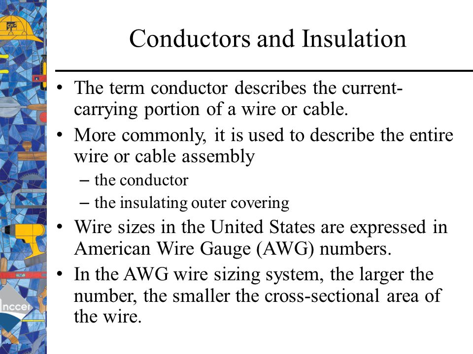 Awg american wire gauge ppt video online download 4 conductors and insulation keyboard keysfo Choice Image