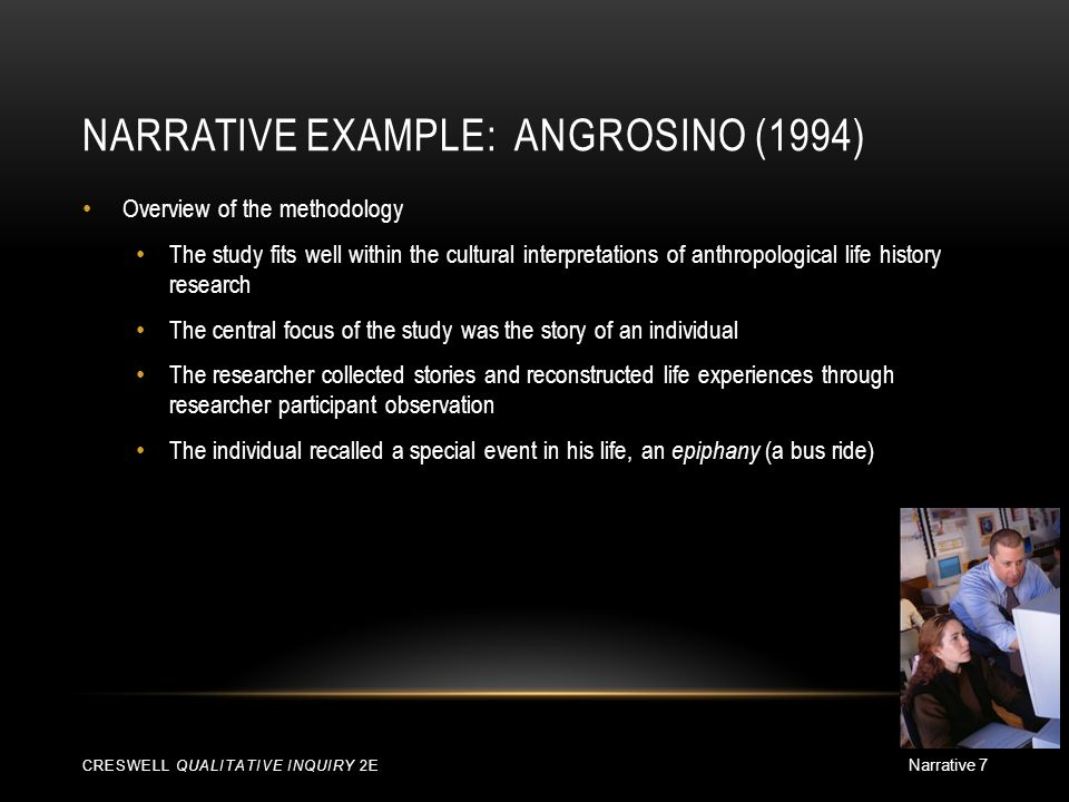 research narrative example