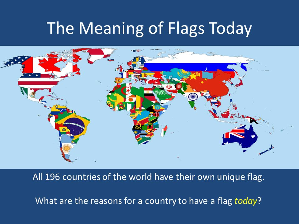 The Very First Flags of the World - ppt video online download