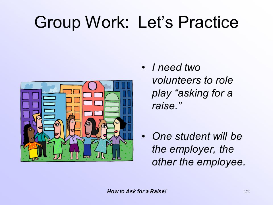 Group Work: Let's Practice