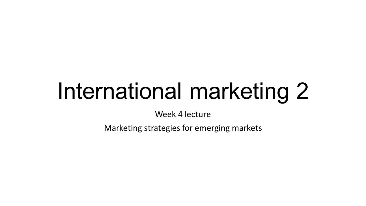 ppt on special problems in international marketing International journal of business and social science vol 2 no 13 [special issue - july 2011] 3 this strategy is also used by chain stores when they rush to expand rapidly and keep competitors out of the.
