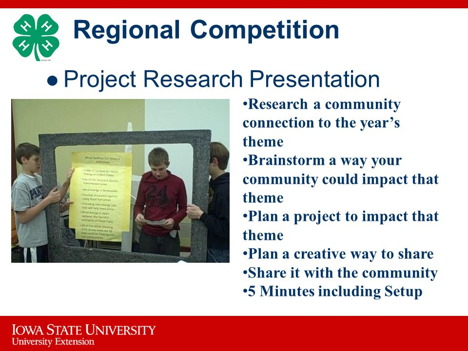 Regional Competition Project Research Presentation