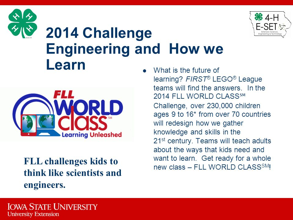 2014 Challenge Engineering and How we Learn