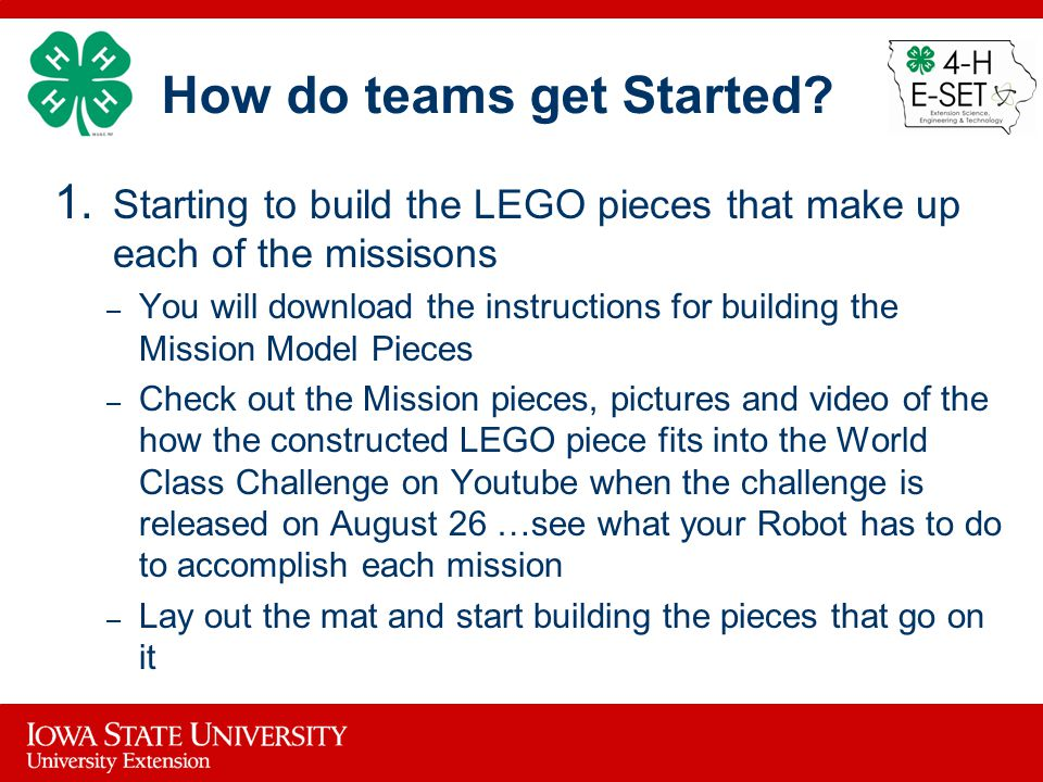 How do teams get Started