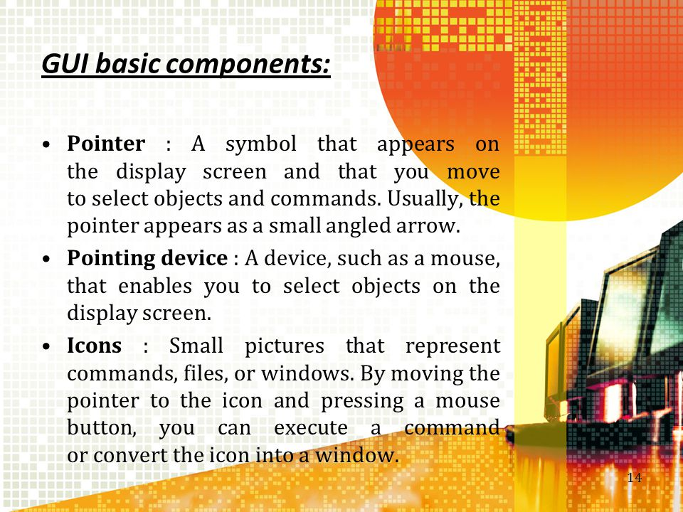 GUI basic components: