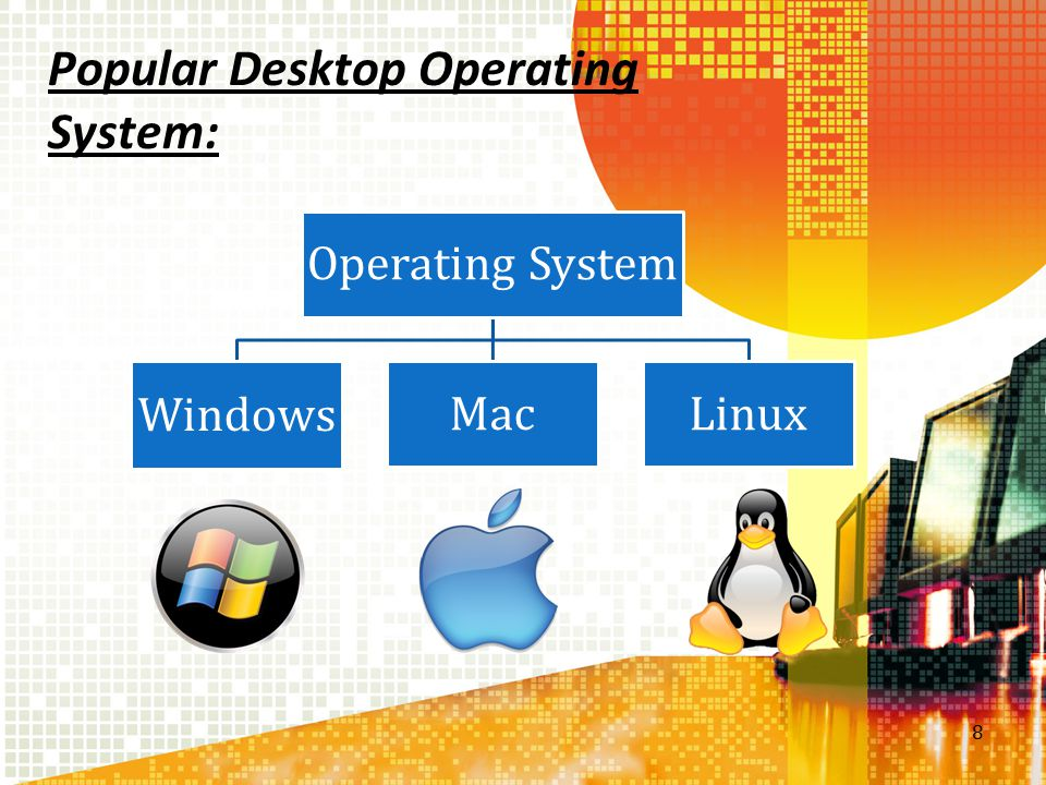 Popular Desktop Operating System: