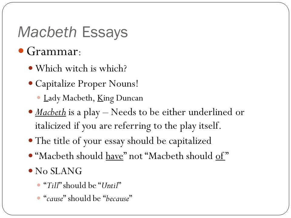 Essay On Science And Religion  Macbeth  Help Writing Essay Paper also Synthesis Essay Macbeth Essays Introduction Paragraph  Ppt Video Online Download Obesity Essay Thesis
