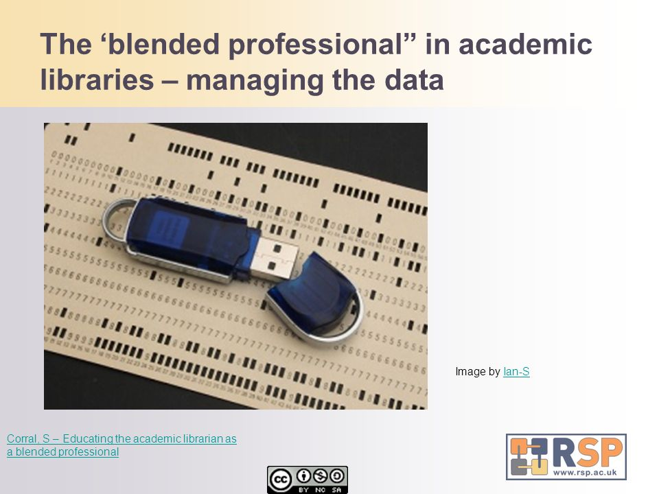 The 'blended professional in academic libraries – managing the data