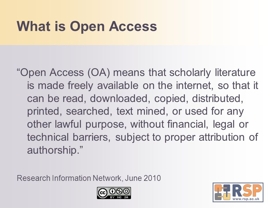 What is Open Access