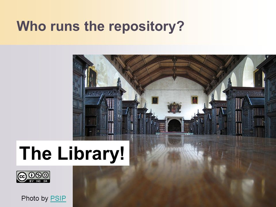Who runs the repository