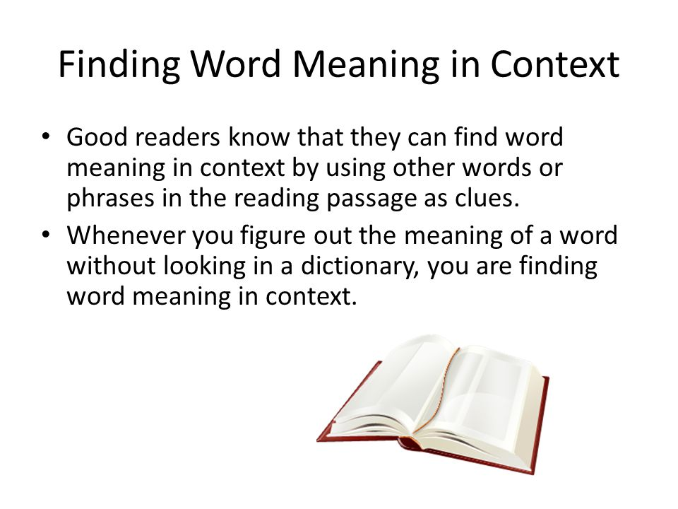 Finding Word Meaning in Context