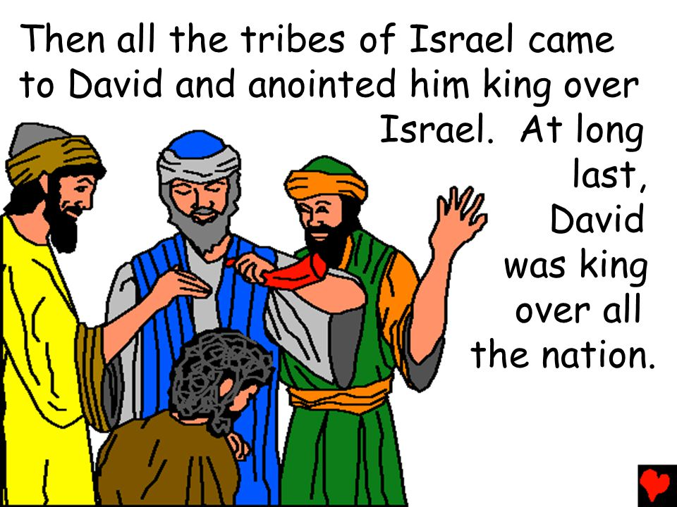 Then all the tribes of Israel came