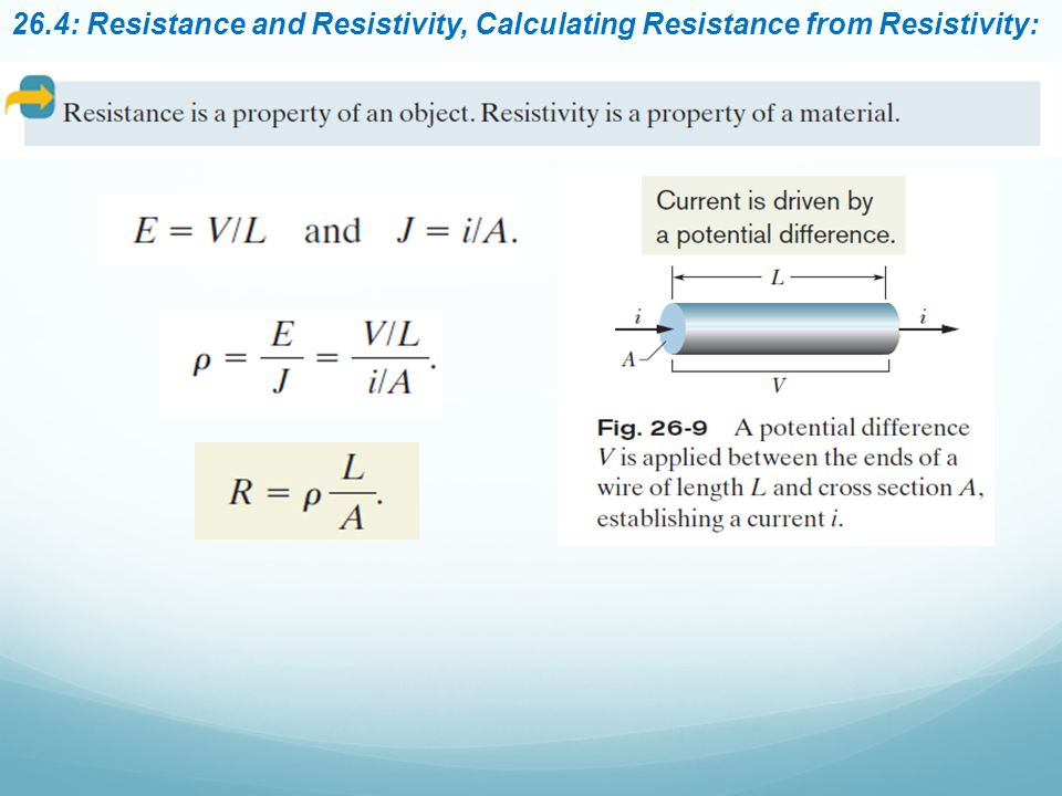 26.4: Resistance and Resistivity, Calculating Resistance from Resistivity: