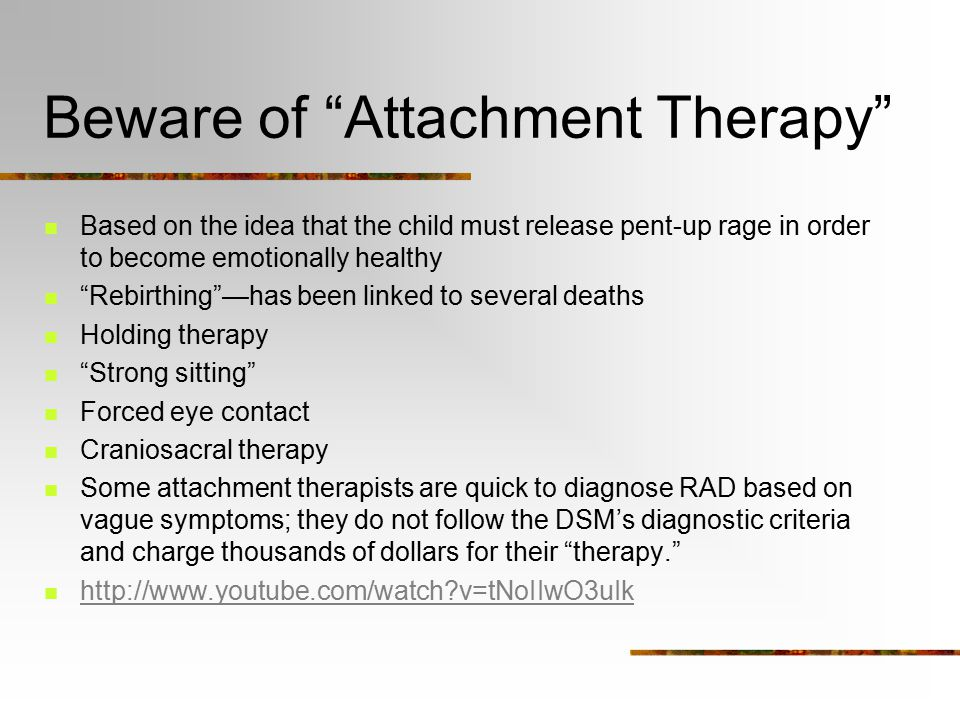 Reactive Attachment Disorder Ppt Video Online Download
