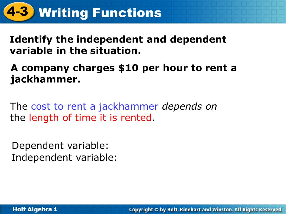 how to find the independent variable in an article