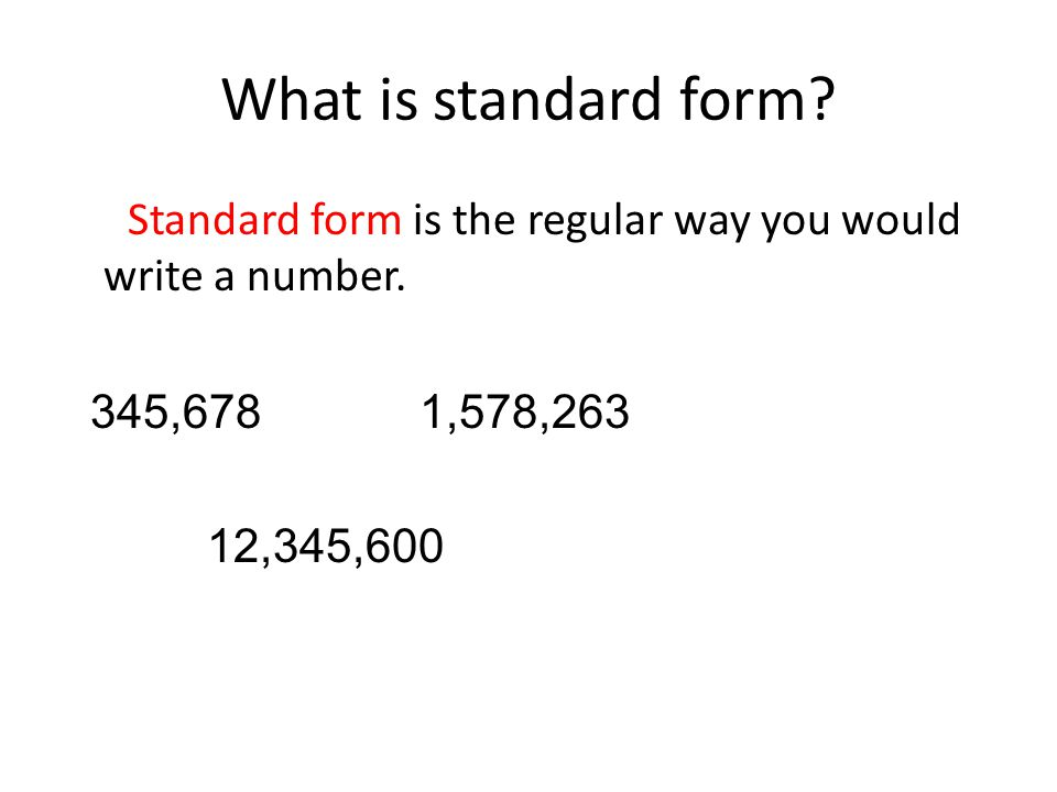 What Is Standard Form In Math Choice Image Free Form Design Examples