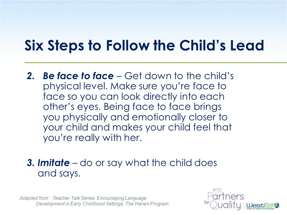 Six Steps to Follow the Child's Lead