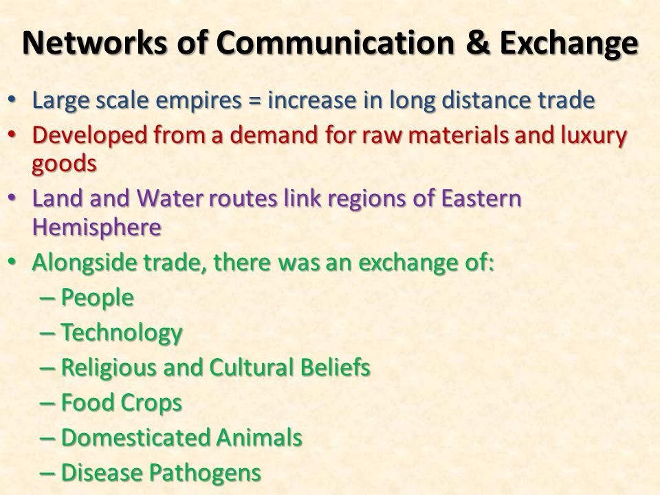 Networks of Communication & Exchange