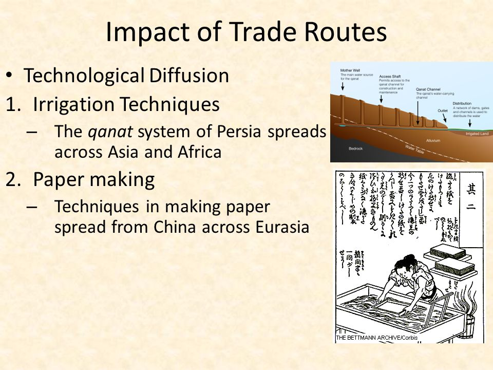 Impact of Trade Routes Technological Diffusion Irrigation Techniques