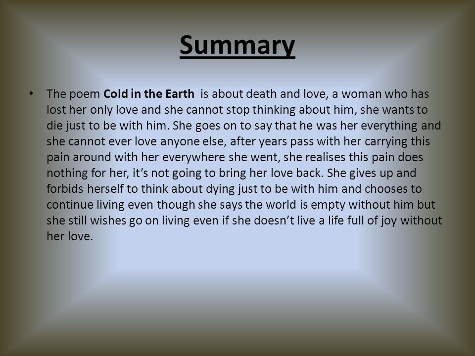 wants poem summary