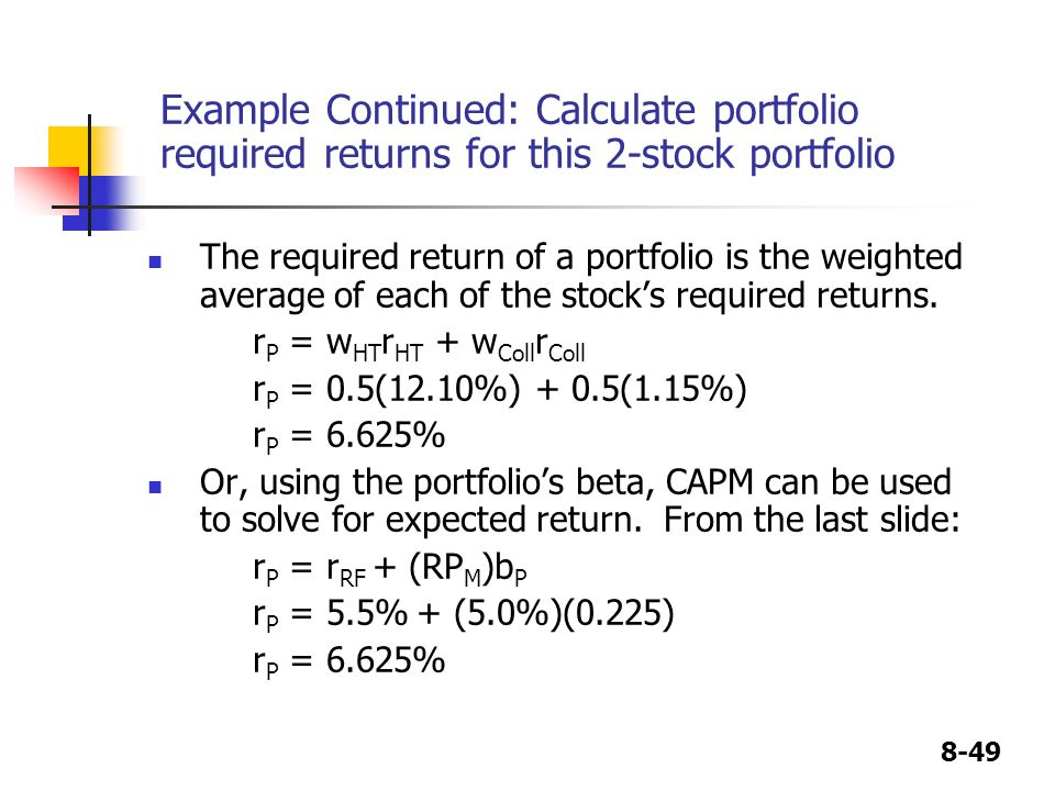 CHAPTER 8 Risk and Rates of Return - ppt video online download