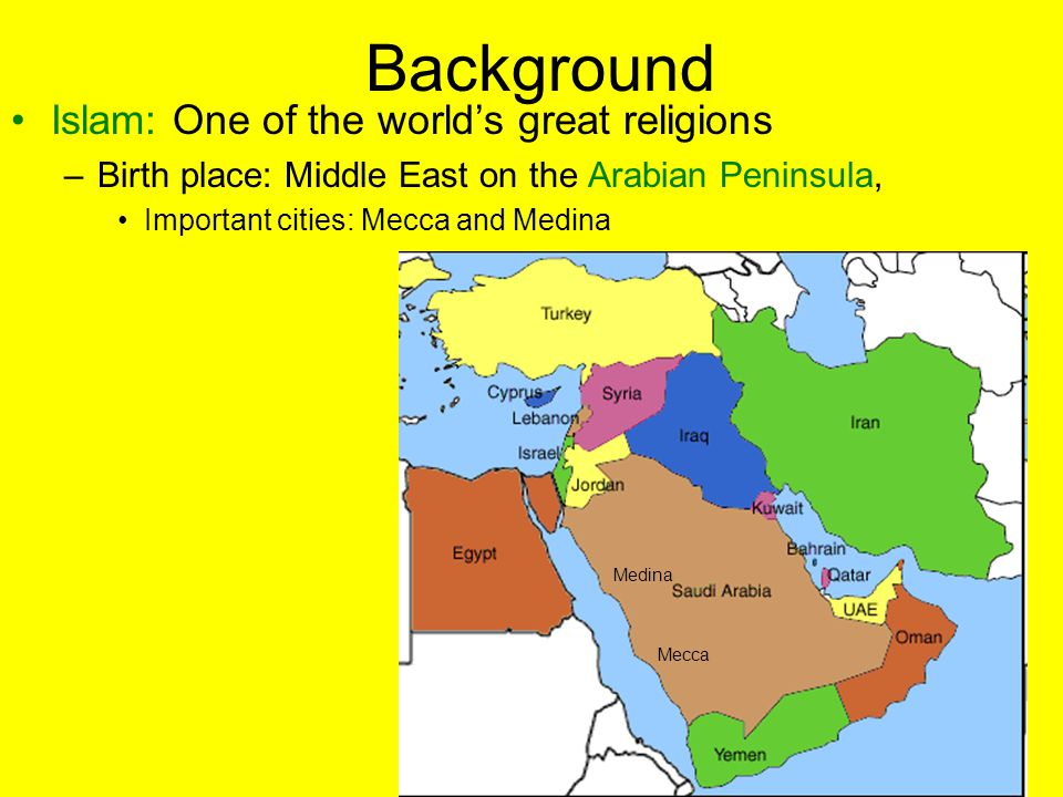 Background Islam: One of the world's great religions
