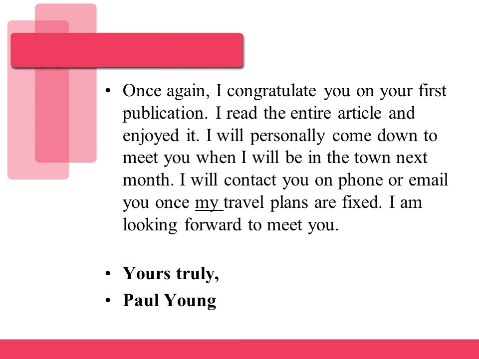 letter of congratulation ppt download