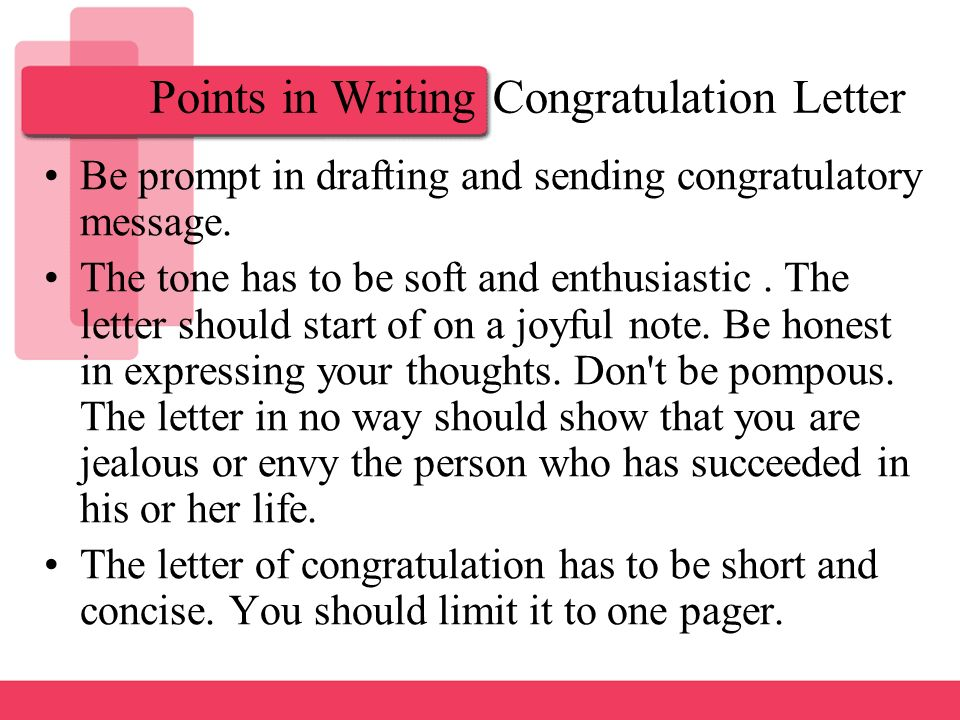 Letter of congratulation ppt download points in writing congratulation letter altavistaventures Choice Image