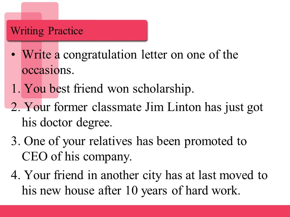 Letter of Congratulation - ppt download