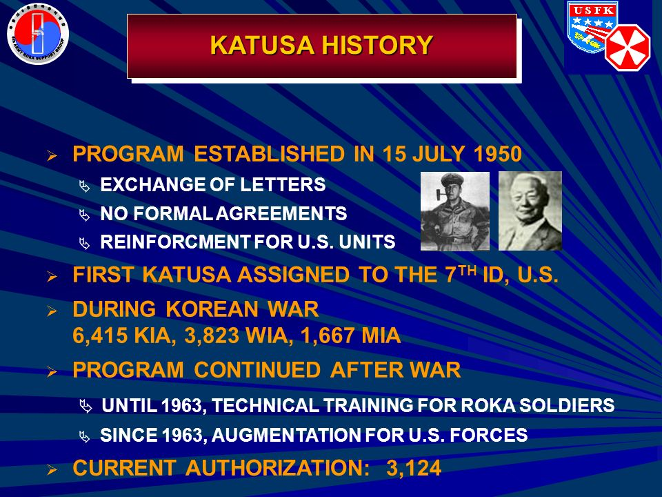 the seventh letter korean augmentation to the united states army ppt 1667