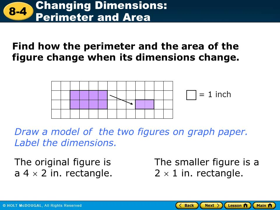 draw a model of the two figures on graph paper label the dimensions