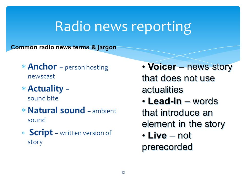 Intro to Broadcast Journalism - ppt video online download