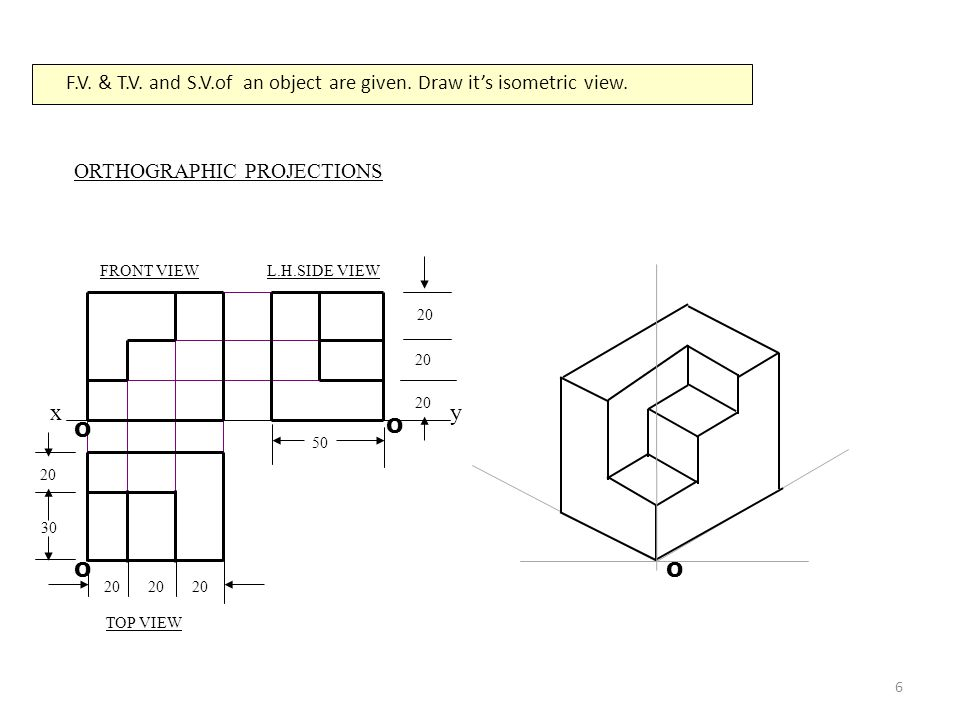 Isometric Projection Projection On A Plane Such That