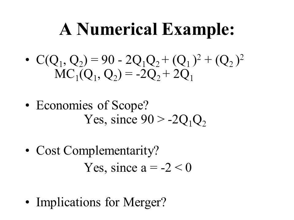 how to get a cost function for a merger