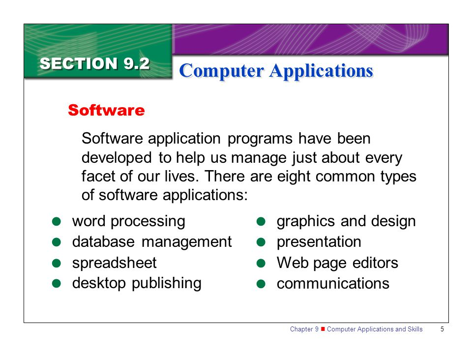 Section 9 2 Computer Applications - ppt video online download