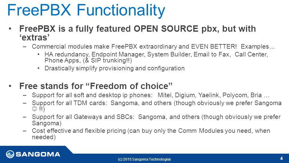 Benefits of FreePBX Leo D'Alessandro Jun ppt download