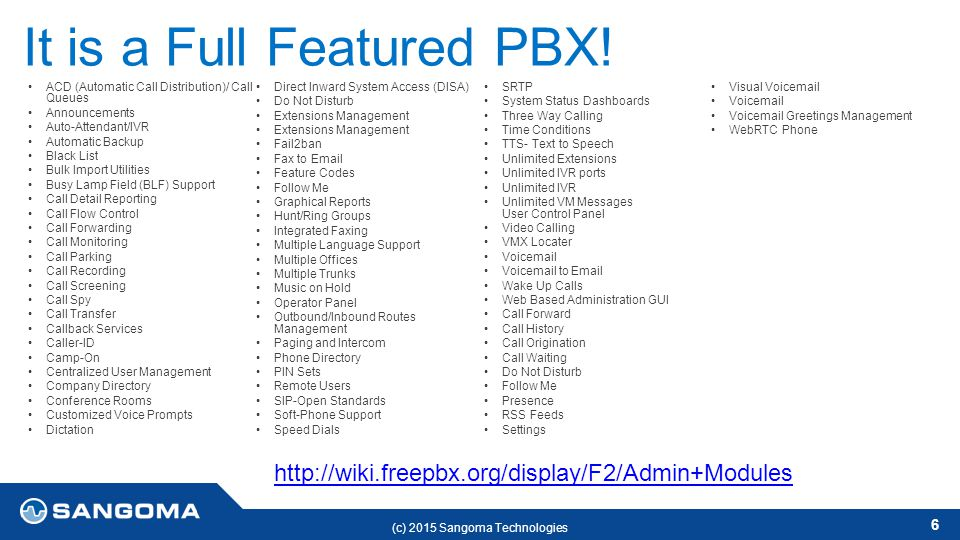 Benefits of FreePBX Leo D'Alessandro Jun ppt download