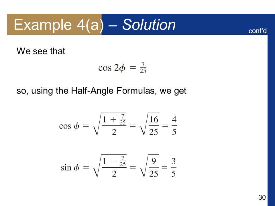 Example 4(a) – Solution We see that