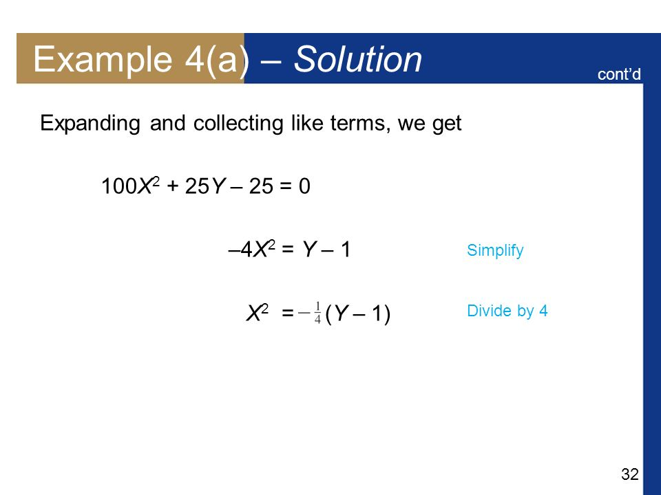 Example 4(a) – Solution Expanding and collecting like terms, we get