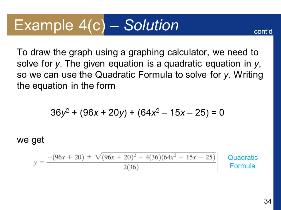 Example 4(c) – Solution cont'd.