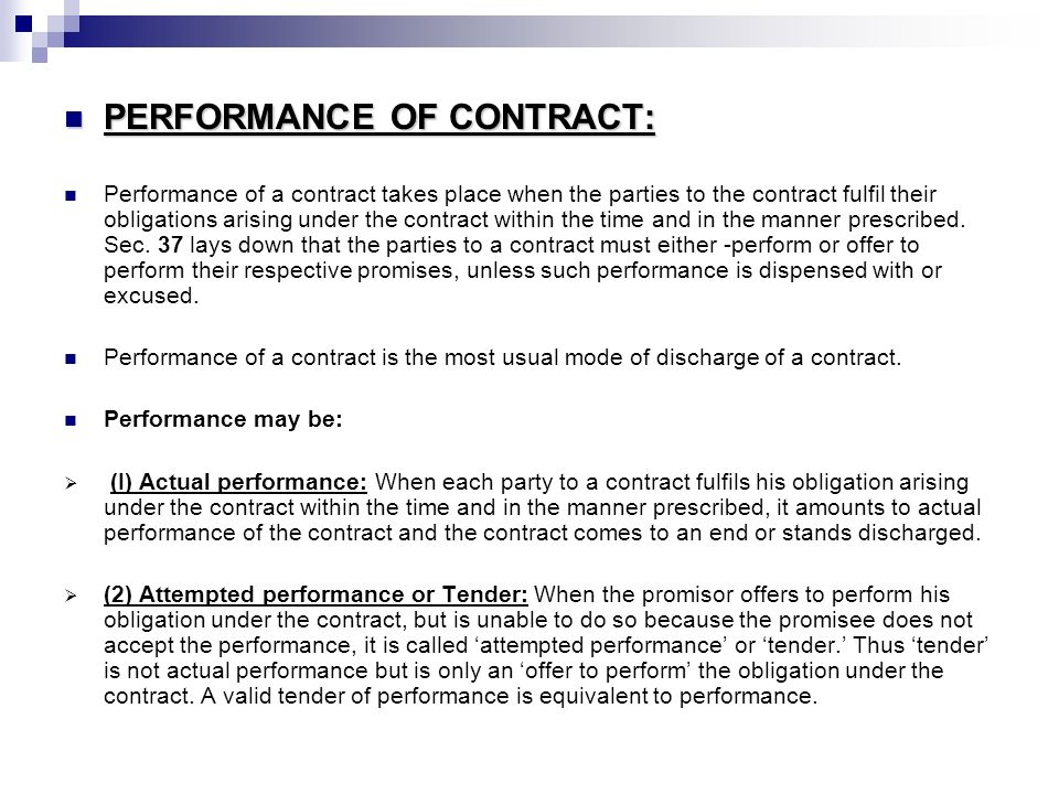 place of performance of a contract