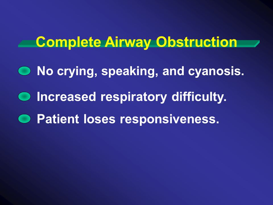 Complete Airway Obstruction