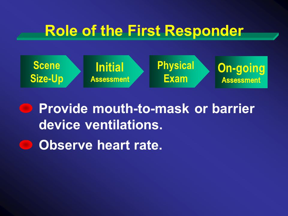 Role of the First Responder