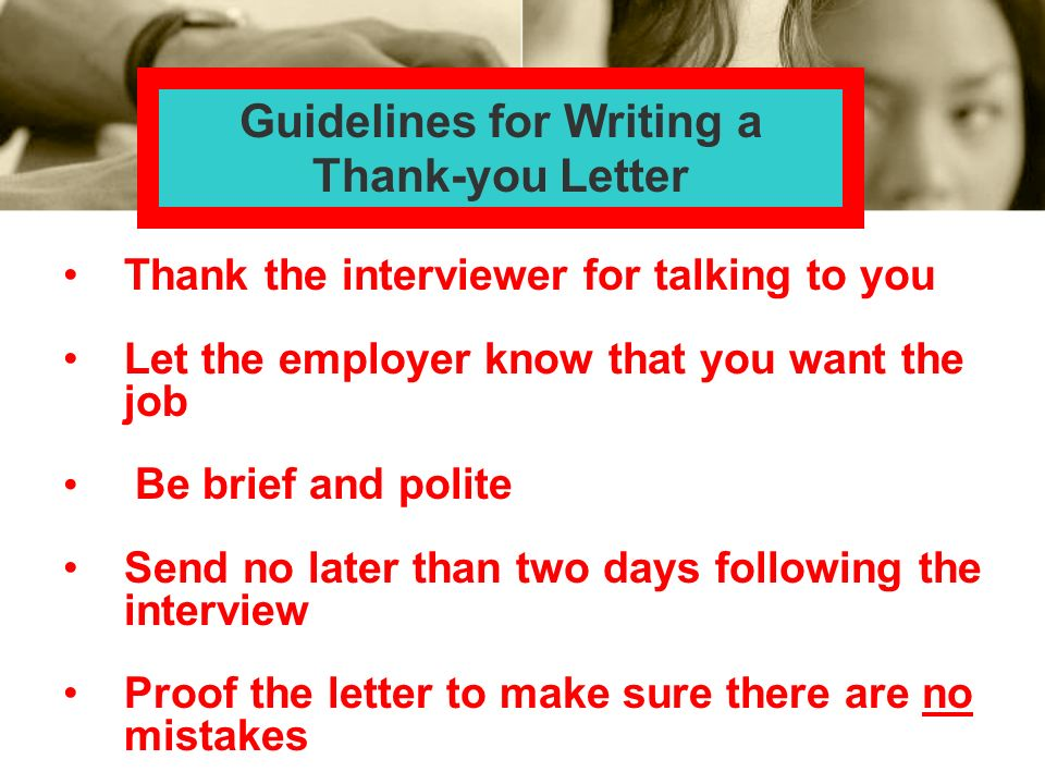 Guidelines for Writing a Thank-you Letter