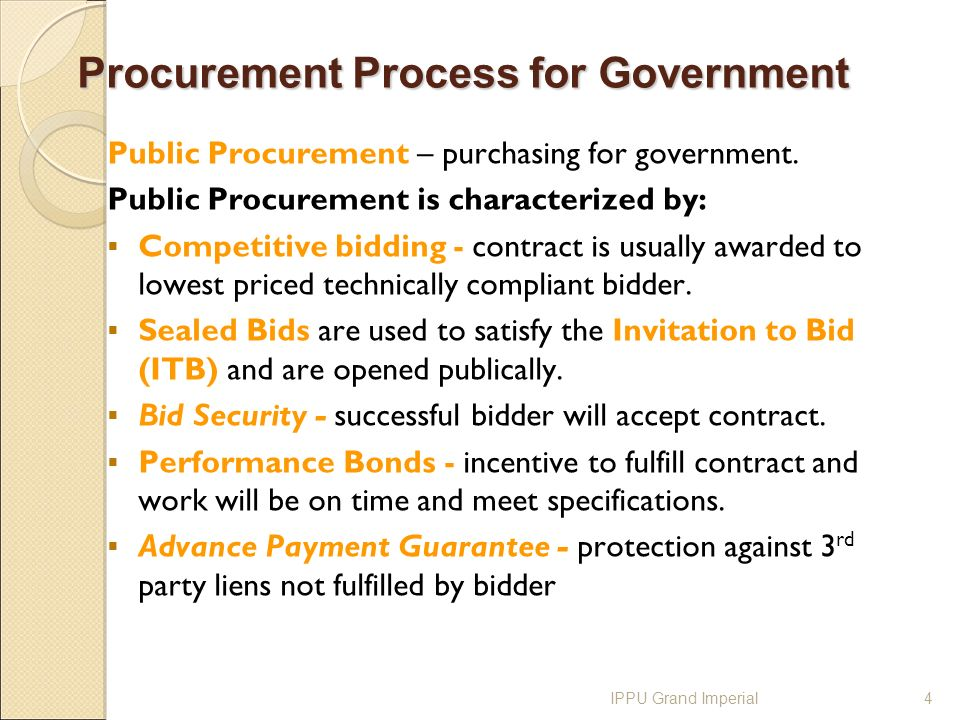 International Procurement Process, benefits and challenges