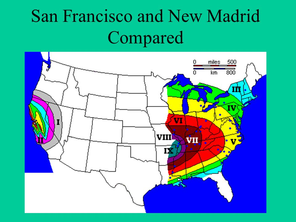 San Francisco and New Madrid Compared