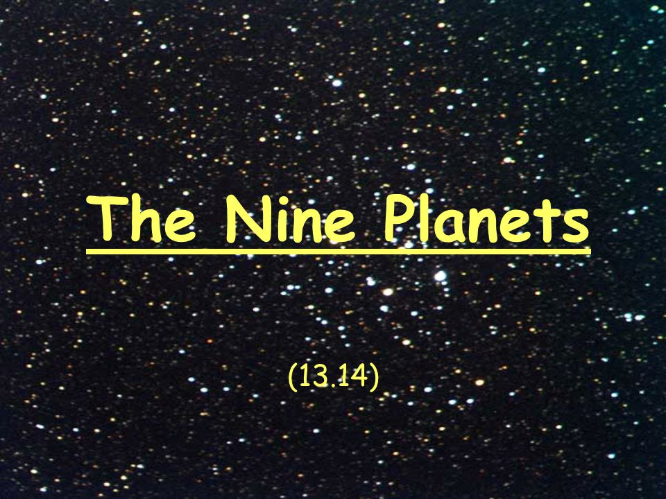 the nine planets - 960×720